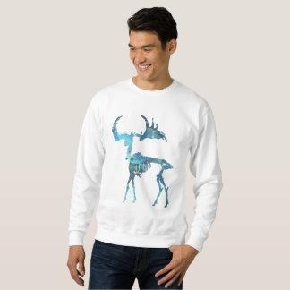 Irisches Elch-Skelett Sweatshirt