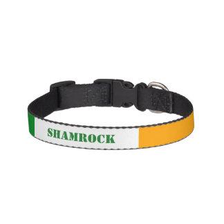 Irisches Flagge ROI Irland Tricolor Haustierhalsbänder