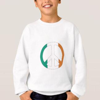 Irisches Flaggen-Friedenssymbol Sweatshirt