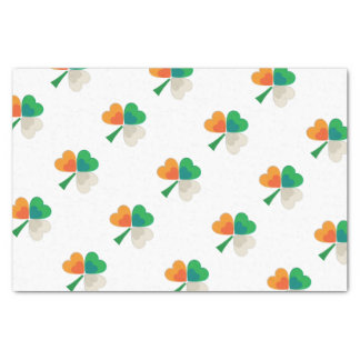 Irisches Flaggen-Kleeblatt Seidenpapier