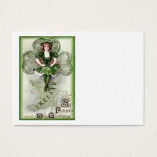 Irisches Frauen-Irland-Kleeblatt Riverdance Jumbo-Visitenkarten