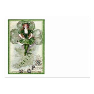 Irisches Frauen-Irland-Kleeblatt Riverdance Mini-Visitenkarten