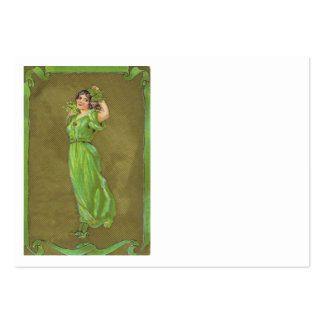 Irisches Frauen-Kleeblatt Visitenkartenvorlage