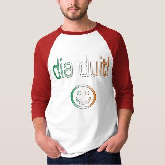 Irisches gälisches Geschenk-hallo/Durchmesser Duit T-Shirt