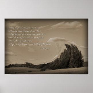 Irisches Gebet, Geschenke fantasiereiche Bilder Poster
