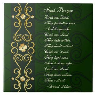 Irisches Gebet, kreisen mich Lord ein, Fliese