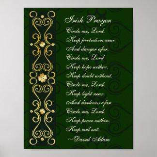 Irisches Gebet, kreisen mich Lord ein, Poster