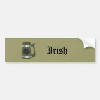 Irisches glückliches Kleeblatt der Grundge Autoaufkleber