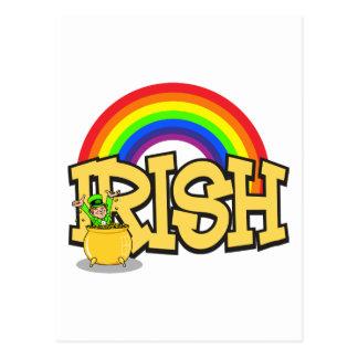 Irisches Goldschatz-Geschenk Postkarte