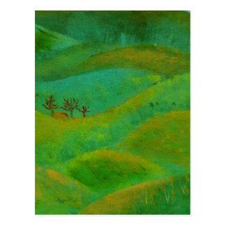 irisches Grün und Gebet Postkarte