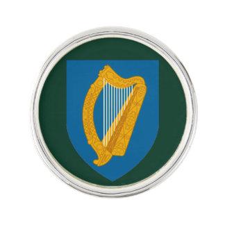 Irisches Harfen-Revers-Button Anstecknadel