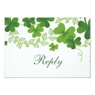 Irisches Hochzeit UAWG des Kleeblatt-(Klee) Karte