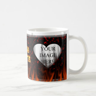 Irisches hottie Feuer und Flammen Rotmarmor Kaffeetasse