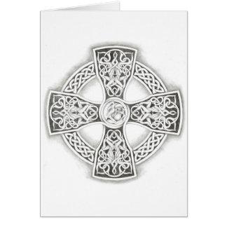 Irisches keltisches Kreuz Karte
