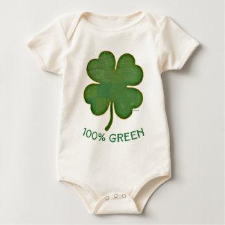 Irisches Kleeblatt - 100% Grün Baby Strampler