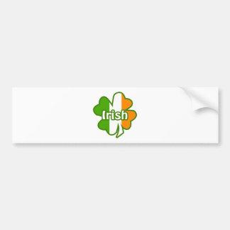 Irisches Kleeblatt Autoaufkleber
