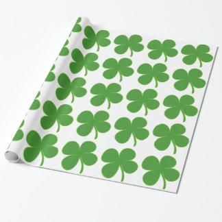 Irisches Kleeblatt Geschenkpapier