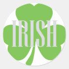 irisches Kleeblatt Runder Aufkleber