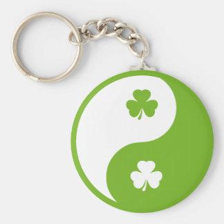 irisches Kleeblatt Ying und Yang Schlüsselband