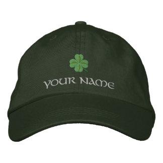 Irisches Kleeblattabdeckung St Patrick Bestickte Kappe