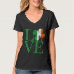 Irisches Liebe-Kleeblatt St. Patricks Hemd