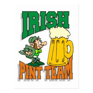 Irisches Liter-Team Postkarte