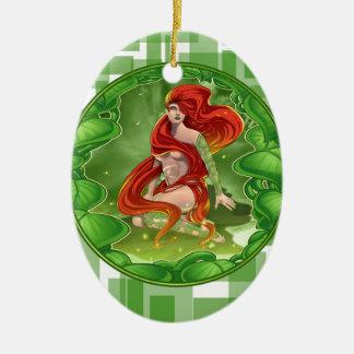 Irisches Mädchen Keramik Ornament