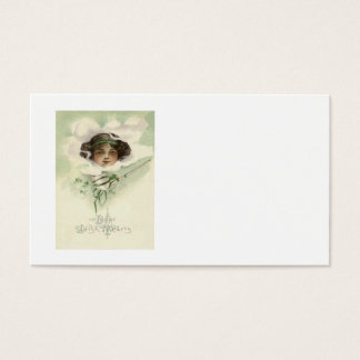 Irisches Mädchen-Lehm-Rohr-Rauch-Kleeblatt Visitenkarten