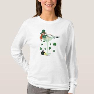 Irisches Mädchen Martini St. Patricks T-Shirt