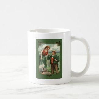 Irisches Paareshillelagh-Kleeblatt Kaffeetasse