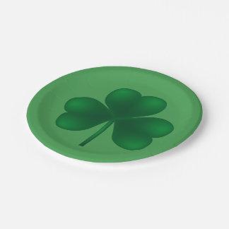 Irisches Party 7 Kleeblatt-Party-St. Patricks Pappteller