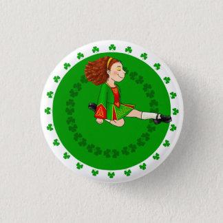 Irisches Tanzen-Mädchen-Abzeichen Runder Button 3,2 Cm
