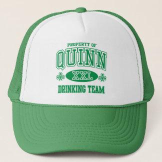 Irisches trinkendes Team Quinns Truckerkappe
