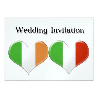 Irisches und italienisches Herz kennzeichnet 12,7 X 17,8 Cm Einladungskarte
