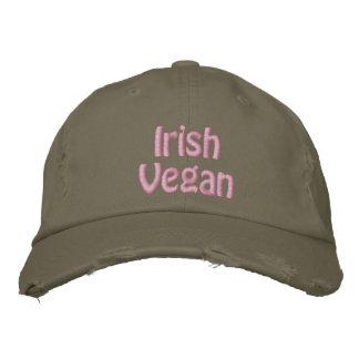 Irisches veganes, St Patrick Tag, rosa Grün Bestickte Kappe