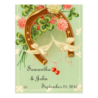 Irisches Wedding Save the Date Postkarte