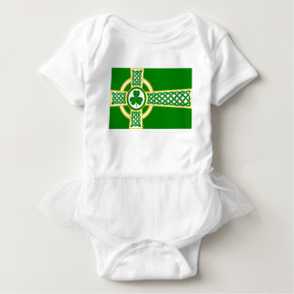 Irish_Celtic_Cross Baby Strampler