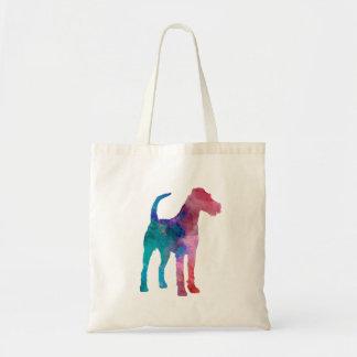 Irish Terrier im Watercolor Tragetasche