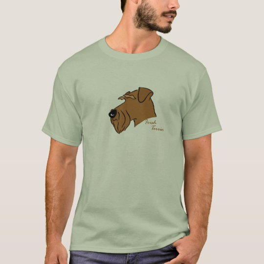 Irish Terrier Kopf Silhouette T-Shirt