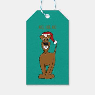 irish Terrier Santa Geschenkanhänger