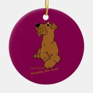 Irish Terrier – Simply the best! Keramik Ornament