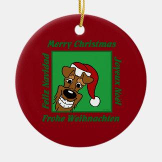 Irish Terrier Weihnacht Keramik Ornament