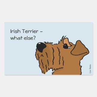 Irish Terrier - what else? Rechteckiger Aufkleber