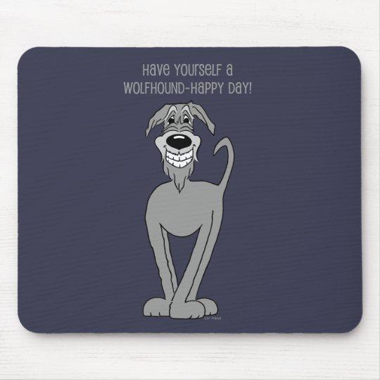 Irish Wolfhound Smile Mousepad