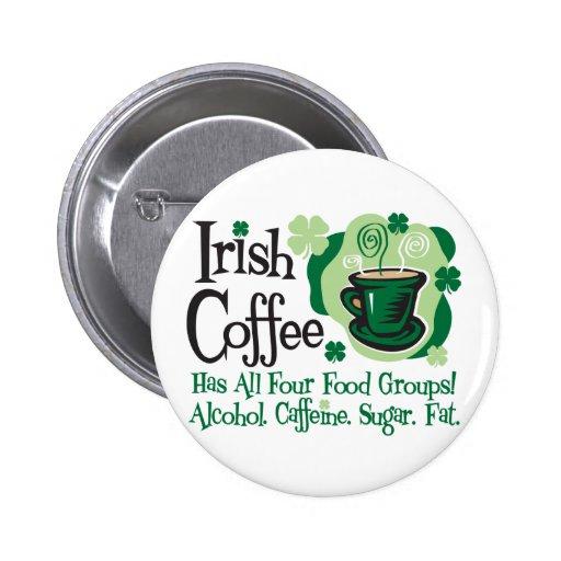 Irishcoffee Anstecknadelbutton