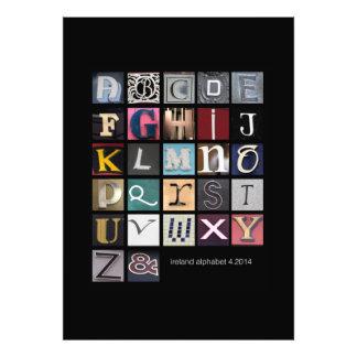 Irland-Alphabet Kunstfotos