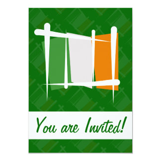 Irland-Bürsten-Flagge 12,7 X 17,8 Cm Einladungskarte