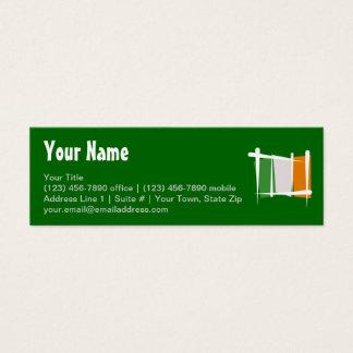 Irland-Bürsten-Flagge Mini Visitenkarte