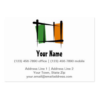 Irland-Bürsten-Flagge Mini-Visitenkarten