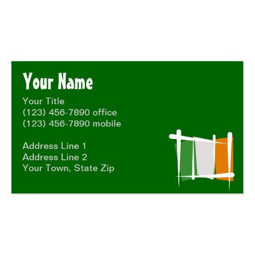 Irland-Bürsten-Flagge Visitenkarten Vorlagen